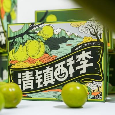 水果(李子)包装设计